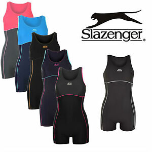 Womens Swimming Costume Ladies Slazenger Boyleg Suit Swimsuit