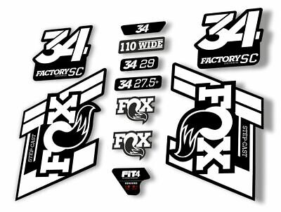 FOX 34 Step Cast SC 2019 Fork Suspension Factory Decal Stickers Adhesive Dolphin