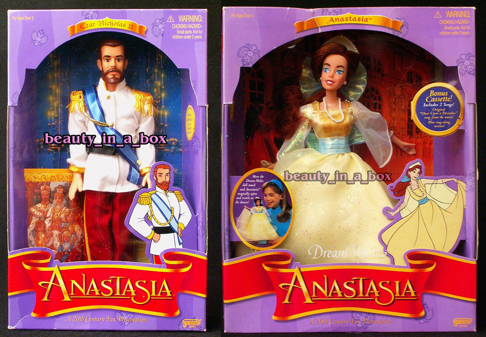 Anastasia muñeca Dream Waltz Baile Vestido zar Nicolás II Muñeca Galoob nunca quitado de la Caja  Lote 2