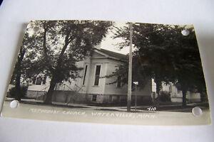 Rare-Vintage-RPPC-Real-Photo-Postcard-B1-Waterville-Minnesota-Methodist-Church
