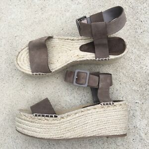 3989b06bfdd5 Image is loading Vince-Abby-Platform-Suede-Espadrille-Sandals-US-WOMENS-