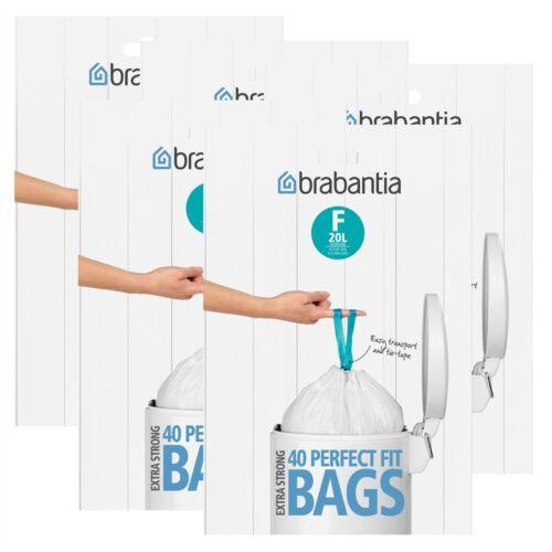 20 Liter 5er Pack F Brabantia Müllbeutel Spenderverpackung 40 Mülltüten