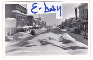 1950-039-s-RPPC-SUSANVILLE-CA-SNOWSTORM-DOWNTOWN-CARS-VINTAGE-POSTCARD-CALIFORNIA