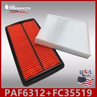 FA6312 FC35519 PREMIUM ENGINE /& CABIN AIR FILTER for 2007-2012 ACURA RDX L4 2.3L