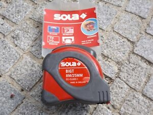 Taschenrollbandmass-BigT-L-8-m-B-25mm-gelb-m-Stopptaste-SOLA-EC-I