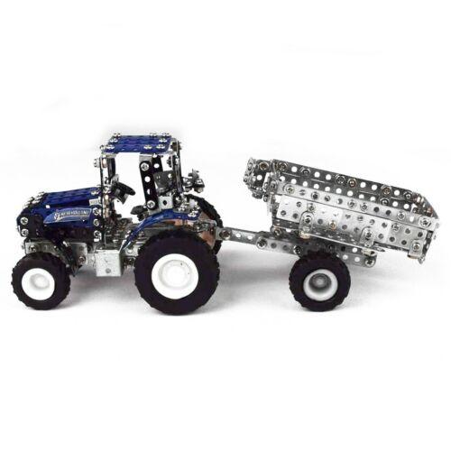 Metallbaukasten tractor R//C New Holland 454 piezas de tronico