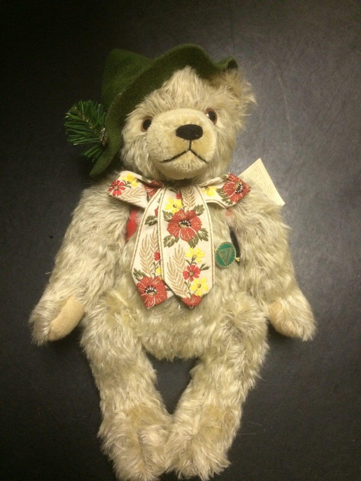 Hermann The Happy Wanderer Mohair Musical Bear Ltd Ed -12047 13000 16