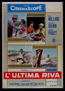 T107 Fotobusta L'Ultima Riva Dawn Milland Quinn Paget 1957