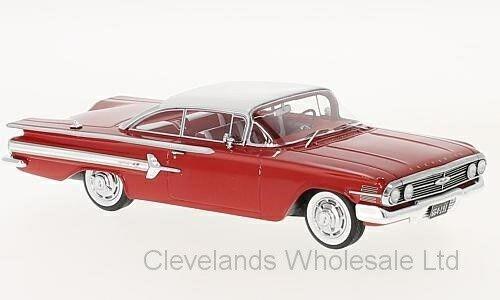 Neo - 46915 1   43 chevrolet impala - sport - coupé rot   weißen 1960