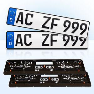 2 Stück EU Kfz-Kennzeichen + 2 Kennzeichenhalter - Klipp Top 4