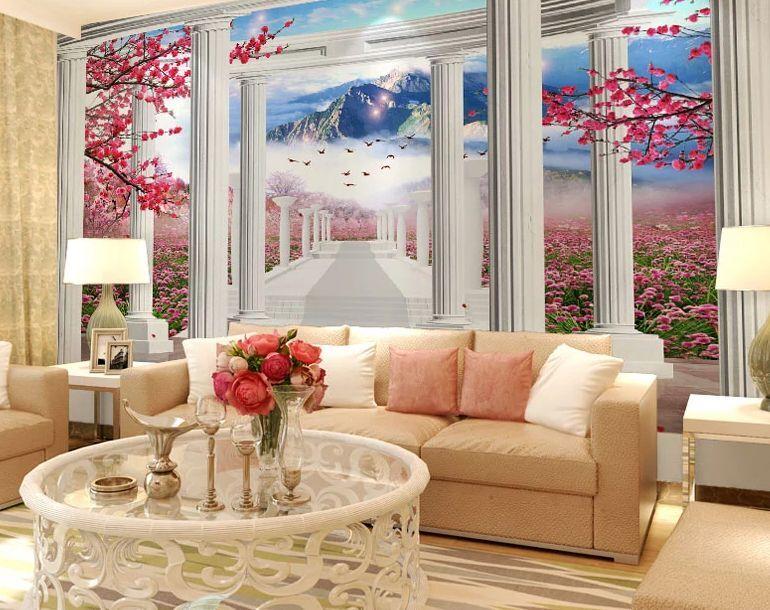 3D Garten, vögel, Aoyama 8 Fototapeten Wandbild Fototapete BildTapete Familie DE