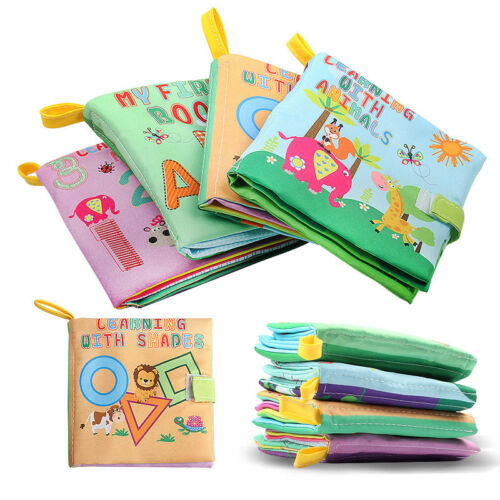 4pc Baby Cloth Book Early Educational Newborn Crib Toys for 0-36 Months Infants