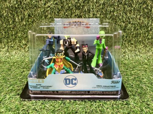 Nightwing Bane Riddler Catwoman Robin Figure Pack Funko HeroWorld DC Series 8
