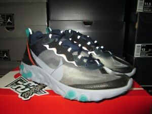 2018 Gris 87 Qs Navy Element Midnight Nike Aq1090 005 React Noir Neptune Bleu OZuTPXik