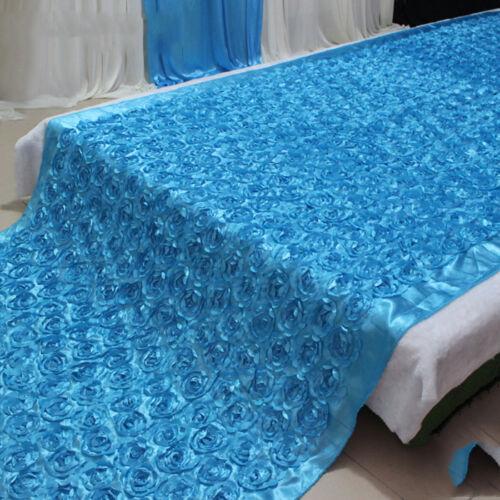 Anti-slip Stage Floor Carpets 3D Rose Flower Rug Wedding Aisle Runner Decor WCV