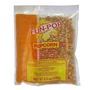 36 pk Gold Medal Fun-pop Popcorn Kit 4 oz bags Butter Salt Theatre Popcorn Kids