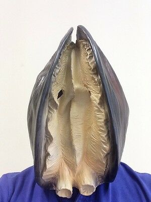Realistic Clam Shell Mussel Mask Sea Animal Fancy Dress Costume