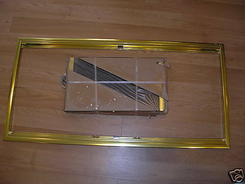 Thermo Rite Polished Brass Cameo Fireplace Glass Door 4425 Ebay
