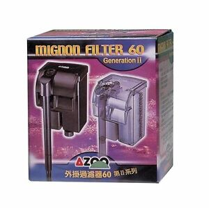 60l/h 15gph Hang On Back For Small Aquariums Persevering Azoo Mignon Filter 60