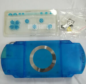 Clear-Blue-For-PSP1000-PSP-1000-Full-Housing-Shell-Case-Repair-Parts-With-Parts