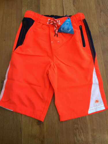 Navy Blue//White Trim Swim Shorts BNWT Next Boys Orange Board