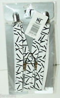 Hot Topic Suspenders White Knife Pattern Punk Fashion Teen Clothing Accessory