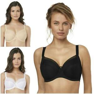 Fantasie Fusion Side Support Bra White FL3091 Cups DD-HH Non-Padded