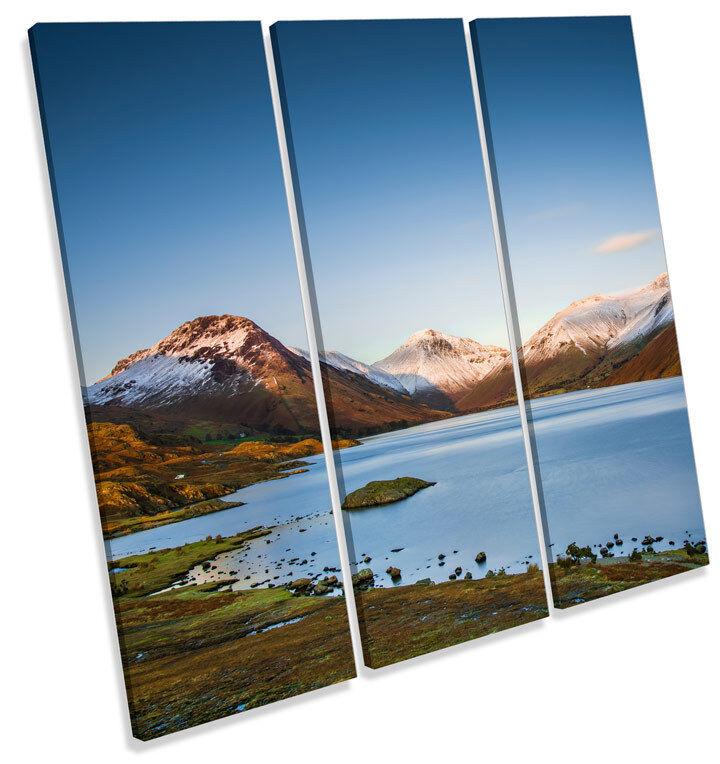 Wasdale Lake agudos District paisaje agudos Lake LONA pared arte Foto impresión Cuadrado 4ad29a