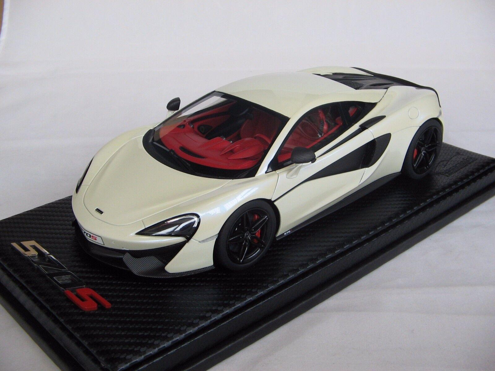 1/18 scale Tecnomodel McLaren 570S Coupè Pearl bianca 2015 - T18-EX02F