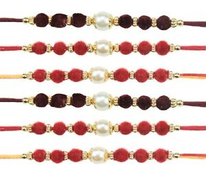 Collectibles Wristbands Fast Deliver 6 X Rakhi Thread Bracelet Multicolour Bead Raksha Bandhan Rakhi Wrist Band Dora