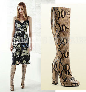59a2948a7389 Image is loading 3-500-GUCCI-BOOTS-LILLIAN-PYTHON-SNAKE-LEATHER-