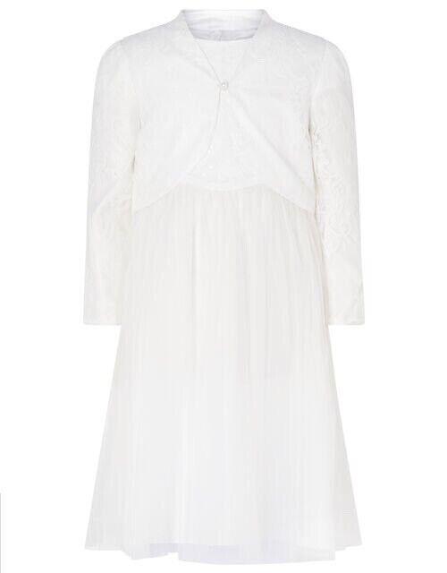Monsoon Girls Bridal Set 2pc Cover Up And Dress Ivory White Wedding Age 7 Years