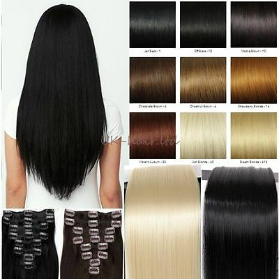 cheap price 8 pcs full head clip in hair extensions Real quality 18clips clip in