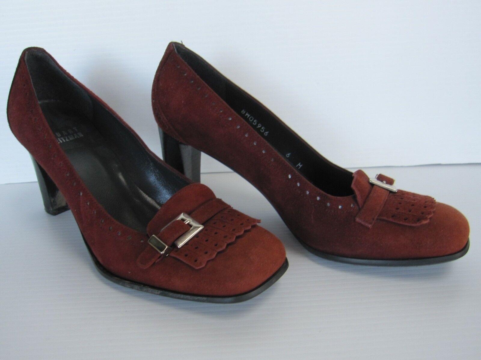 Stuart Weitzman Woman Suede Suede Woman Schuhes Heels Pumps Slip on Größe 6 M Braun 06626f