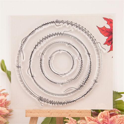 Vivid Sewing thread scrapbook diy photo albums cards silicone transparent In JB