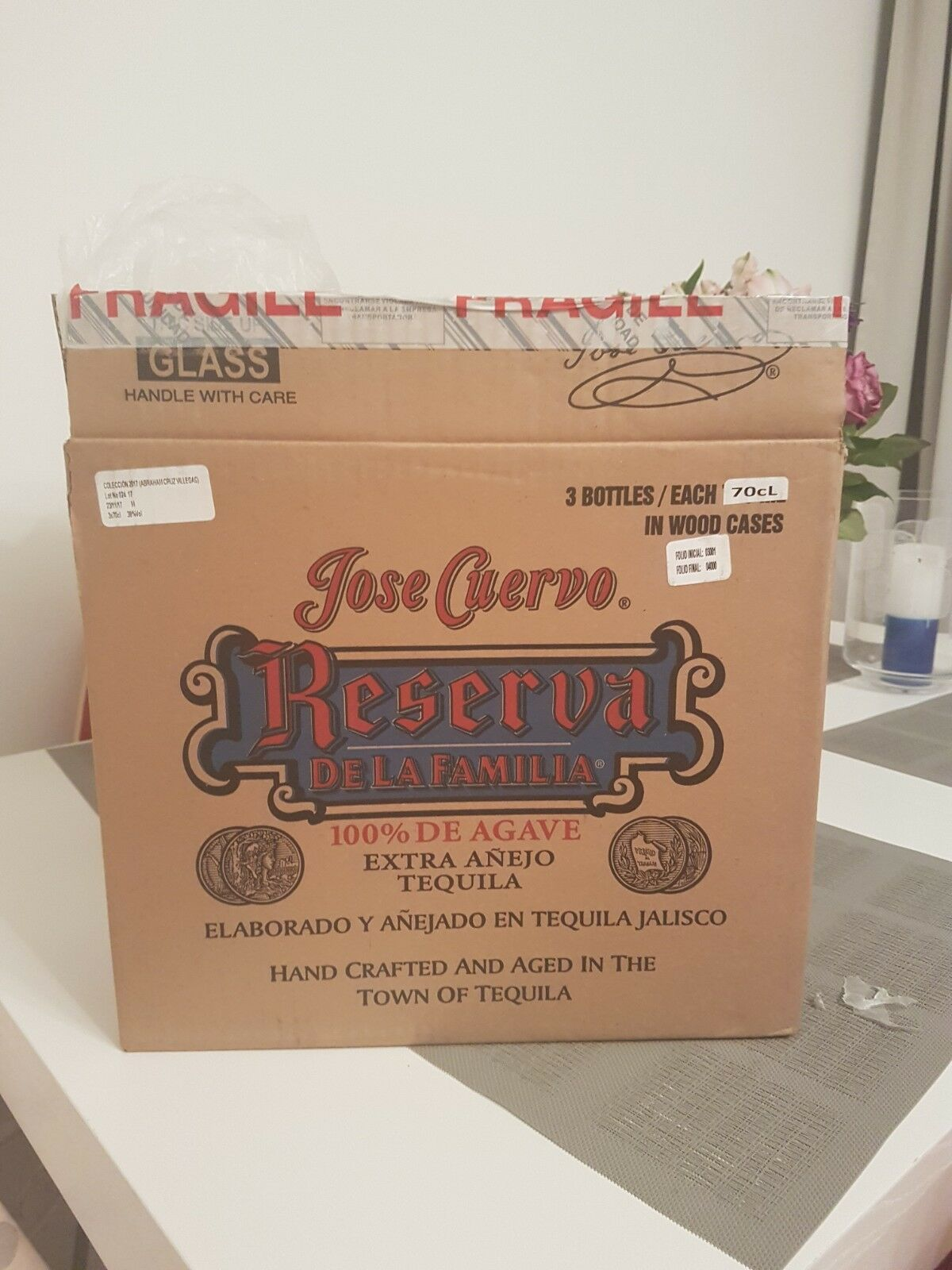 JOSE CUERVO FAMILY RESERVE 3 bouteille Crate