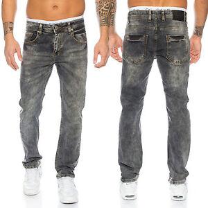 Rock-Creek-Clubwear-Pantalones-Vaqueros-de-Hombre-Gris-Oscuro-Denim-Elasticos