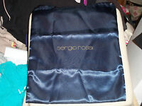 Sergio Rossi Satin Blue Shoe Dust Bag 14 X 17 1/2