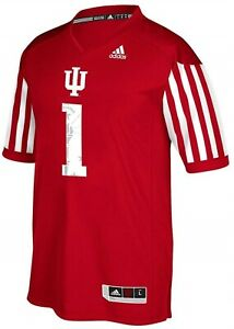 Adidas NCAA Men's Indiana Hoosiers #1 Premier Football Jersey, Red ...