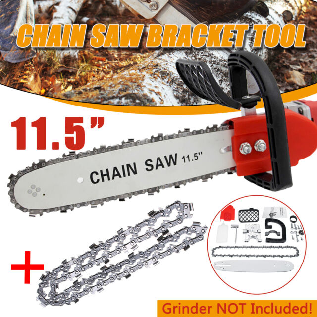 """11.5"""" Electric Chainsaw Stand Adaptor Bracket Changed ood Cut Grinder Chain"""