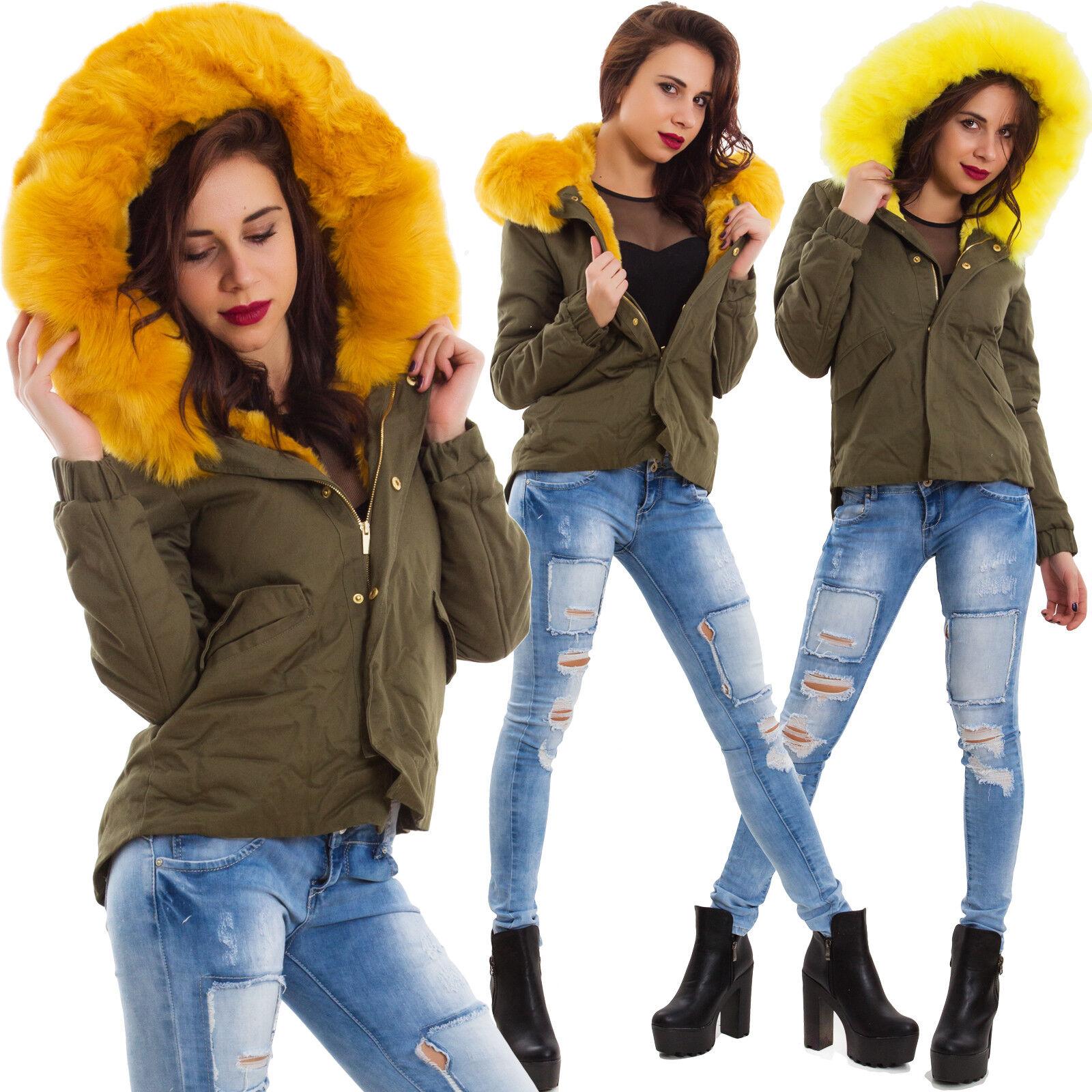 Chaqueta cazadora chaqueta de women chaquetón parka eco piel cabello 7923-MOD2