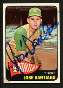 Jose Santiago #557 signed autograph auto 1965 Topps Baseball Trading Card