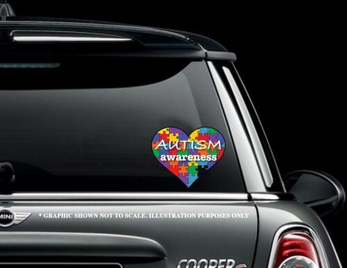 """Autism Awareness 6"""" Puzzle Heart Decal Sticker Car Truck"""