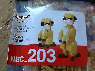 NEW NANOBLOCK Meerkat Meerkats 2 Nano Block Micro-Sized Building Blocks NBC-203