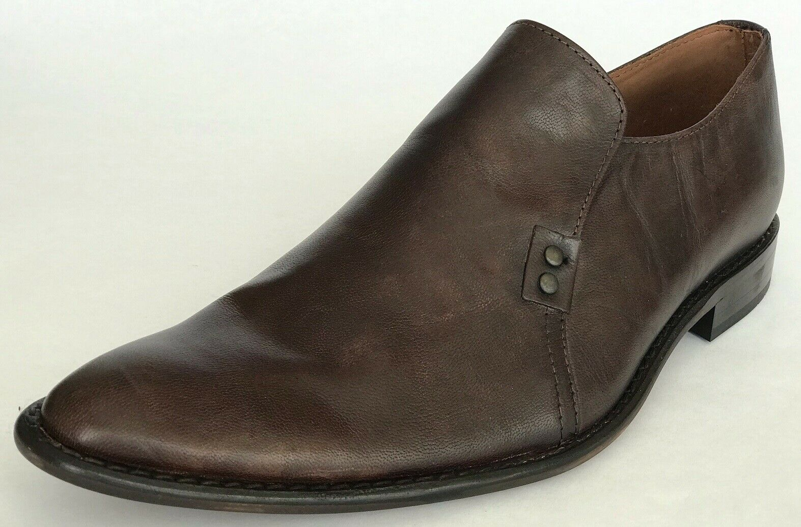 Kennet Cole Mens Steam Line Slip On Casual Dress Shoes Brown 12 NEW IN BOX