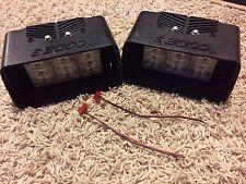 Code 3 Deckblaster housing w/ Federal Signal Cuda LED head; Decklight light pair