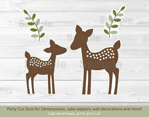 graphic relating to Printable Decorations referred to as Info more than Youngster Deer Occasion Cutouts Decorations Printable