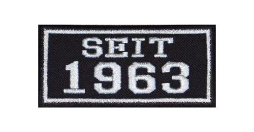 Dal 1963 Biker Patch ricamate anno since MC moto rocker tonaca Club MFG BC