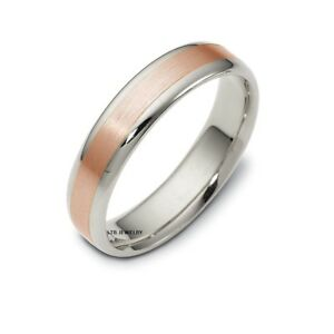 Womens Wedding Rings.Details About Two Tone Gold Wedding Bands 14k White Rose Gold Mens Or Womens Wedding Rings