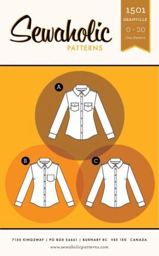 SAP1501 Sewaholic Ladies Sewing Pattern 1501 Granville Shirt